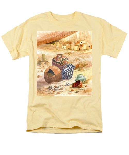 Men's T-Shirt  (Regular Fit) featuring the painting Anasazi Remnants by Marilyn Smith