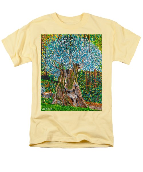 Ancient Olive Tree Men's T-Shirt  (Regular Fit) by Valerie Ornstein