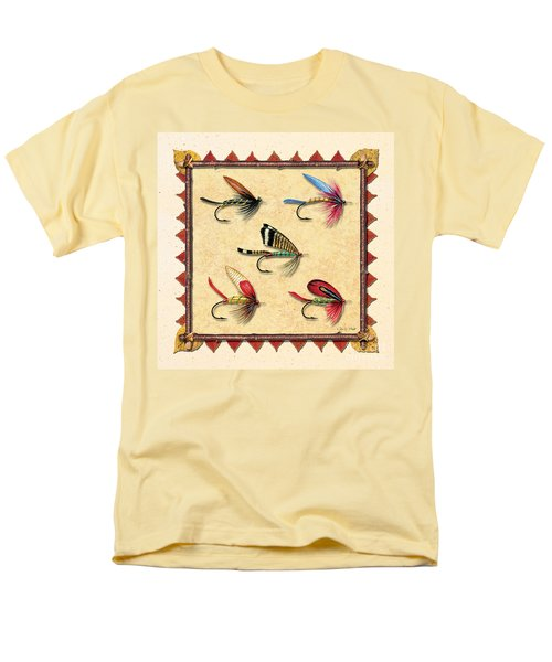 Men's T-Shirt  (Regular Fit) featuring the painting Antique Fly Panel Creme by JQ Licensing