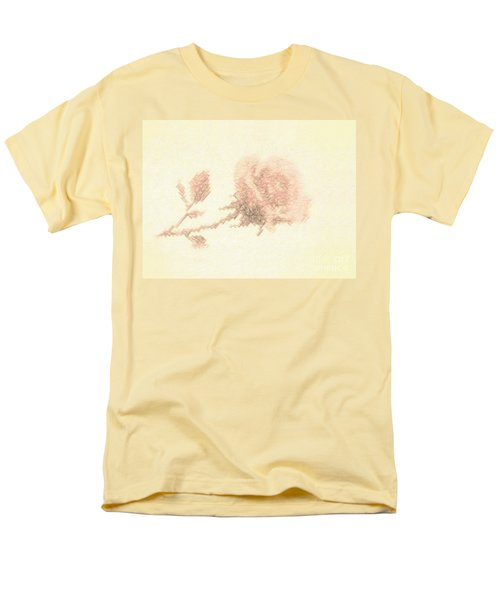Men's T-Shirt  (Regular Fit) featuring the photograph Artistic Etched Rose by Linda Phelps