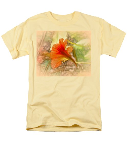 Artistic Red And Orange Men's T-Shirt  (Regular Fit)