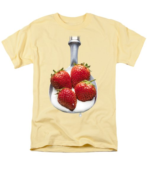 Strawberries N Cream Men's T-Shirt  (Regular Fit) by Jon Delorme
