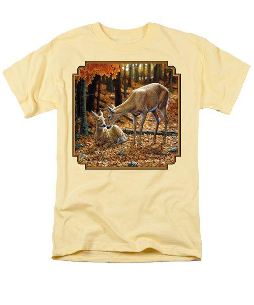 Whitetail Deer - Autumn Innocence 2 Men's T-Shirt  (Regular Fit)