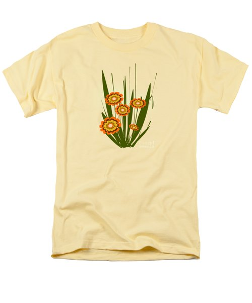 Orange Flowers Men's T-Shirt  (Regular Fit) by Anastasiya Malakhova