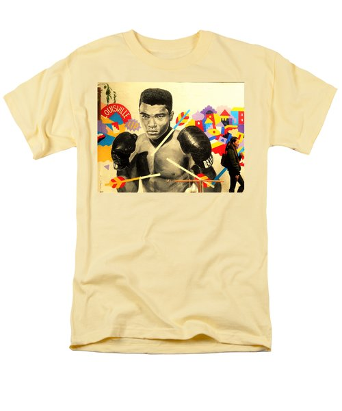 Asian Woman By Mohamed Ali In Brooklyn New York Men's T-Shirt  (Regular Fit) by Funkpix Photo Hunter