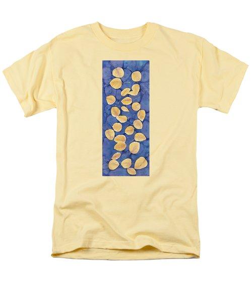 Aspen Leaves On Water Men's T-Shirt  (Regular Fit) by Carolyn Doe