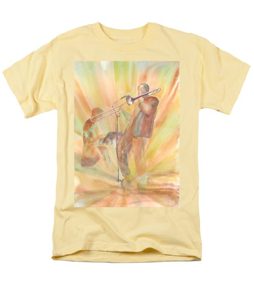 At One With The Music Men's T-Shirt  (Regular Fit) by Debbie Lewis