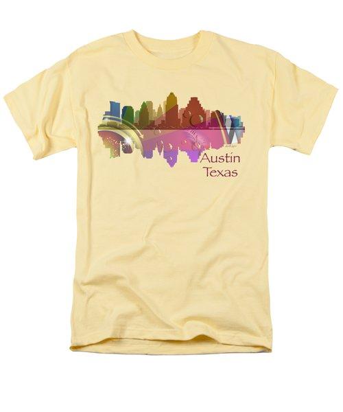 Austin Texas Skyline For Apparel Men's T-Shirt  (Regular Fit) by Loretta Luglio
