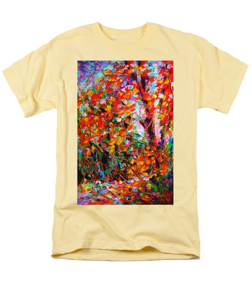 Autumn Leaves Men's T-Shirt  (Regular Fit) by Helen Kagan