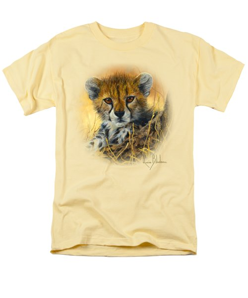 Baby Cheetah  Men's T-Shirt  (Regular Fit) by Lucie Bilodeau
