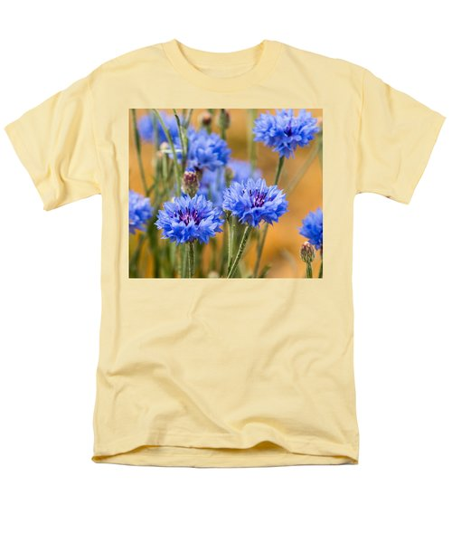 Bachelor Buttons In Blue Men's T-Shirt  (Regular Fit) by E Faithe Lester