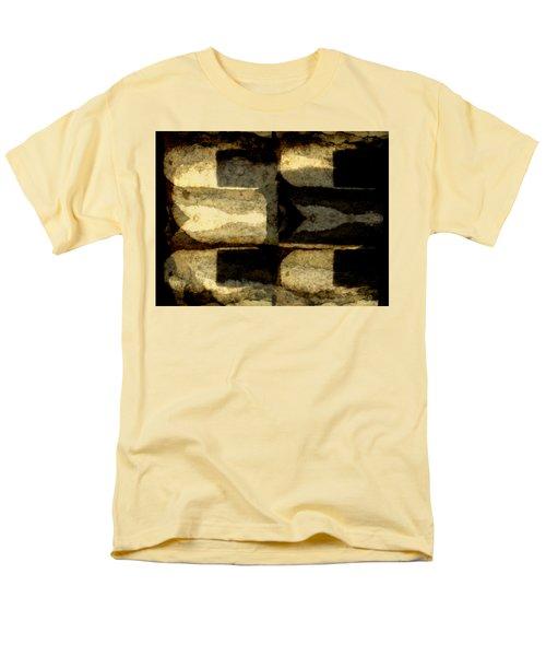 Colour Choice Stone Abstract Men's T-Shirt  (Regular Fit) by Barbara Moignard