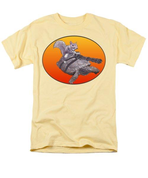Backyard Modern Warfare Crazy Squirrel Men's T-Shirt  (Regular Fit) by David Mckinney