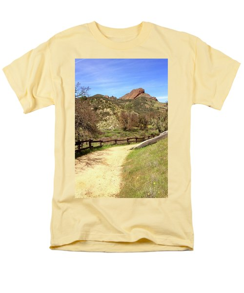 Men's T-Shirt  (Regular Fit) featuring the photograph Balconies Trail - Pinnacles National Park by Art Block Collections