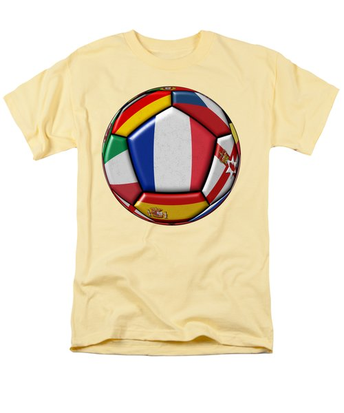 Ball With Flag Of France In The Center Men's T-Shirt  (Regular Fit) by Michal Boubin