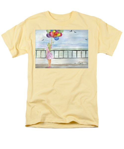 Men's T-Shirt  (Regular Fit) featuring the painting Baloons by P J Lewis