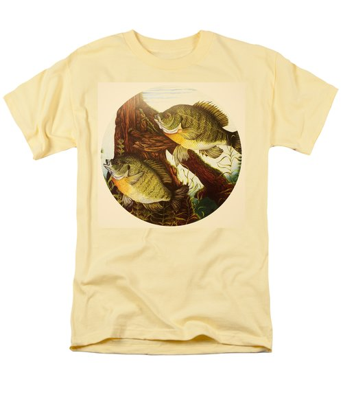 Men's T-Shirt  (Regular Fit) featuring the drawing Basking Bluegills by Bruce Bley