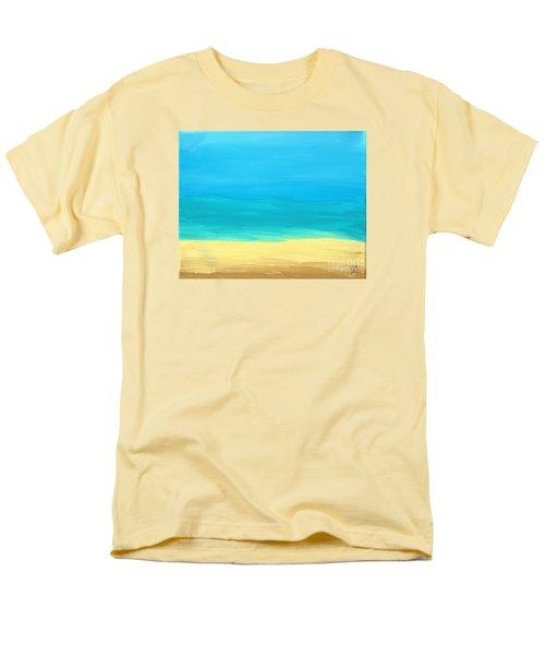 Beach Abstract Men's T-Shirt  (Regular Fit) by D Hackett