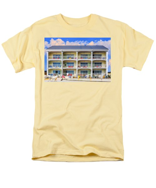 Beach Front Hotel Men's T-Shirt  (Regular Fit) by Robert FERD Frank