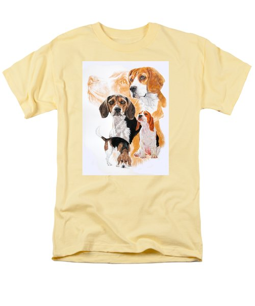 Beagle W/ghost Men's T-Shirt  (Regular Fit) by Barbara Keith