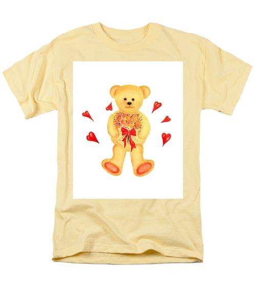 Bear In Love Men's T-Shirt  (Regular Fit) by Elizabeth Lock