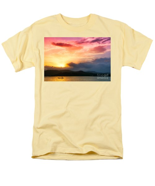 Beautiful Sunset Men's T-Shirt  (Regular Fit) by Charuhas Images