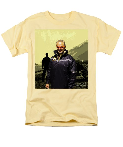 Men's T-Shirt  (Regular Fit) featuring the photograph Being In The Movie IIi by Al Bourassa