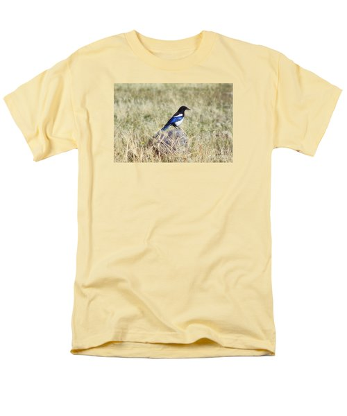 Men's T-Shirt  (Regular Fit) featuring the photograph Black-billed Magpie by Janie Johnson