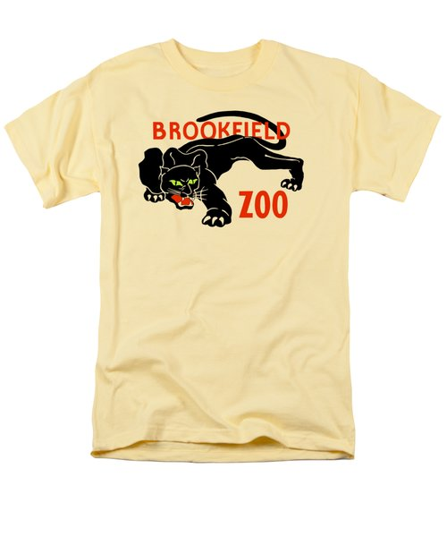 Black Panther Brookfield Zoo Ad Men's T-Shirt  (Regular Fit)