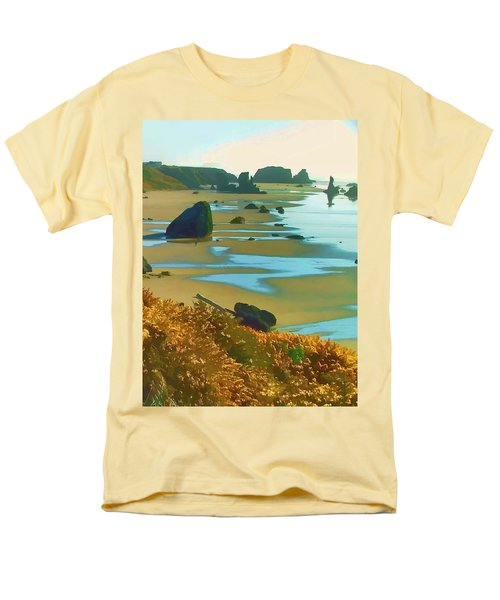 Men's T-Shirt  (Regular Fit) featuring the photograph Blooming Bandon Watercolor by Wendy McKennon