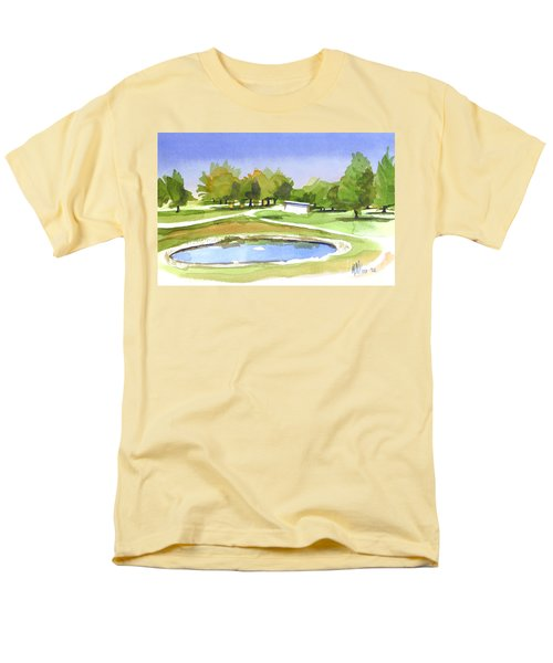 Blue Pond At The A V Country Club Men's T-Shirt  (Regular Fit) by Kip DeVore