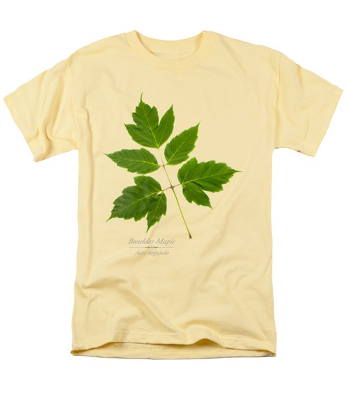 Men's T-Shirt  (Regular Fit) featuring the mixed media Box Elder Maple by Christina Rollo