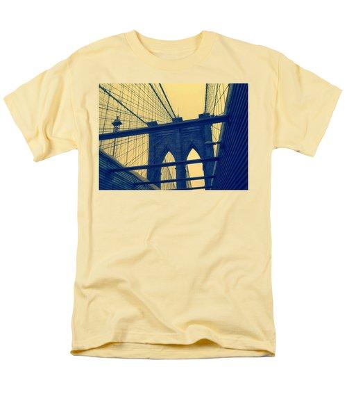 New York City's Famous Brooklyn Bridge Men's T-Shirt  (Regular Fit) by Paulo Guimaraes