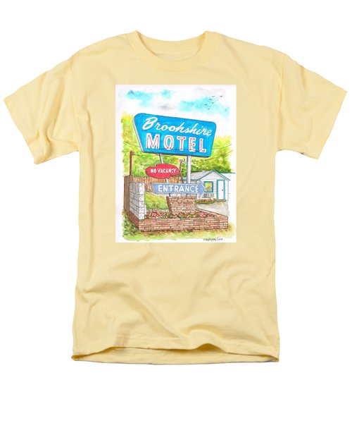 Brookshire Motel In Route 66, Tulsa, Oklahoma Men's T-Shirt  (Regular Fit) by Carlos G Groppa
