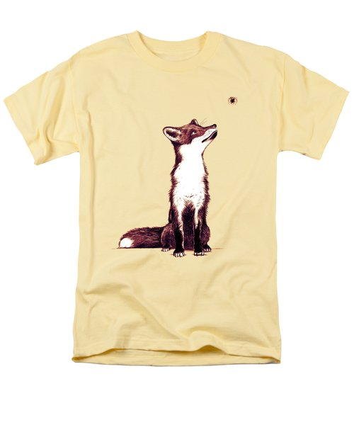 Brown Fox Looks At Thing Men's T-Shirt  (Regular Fit) by Nicholas Ely