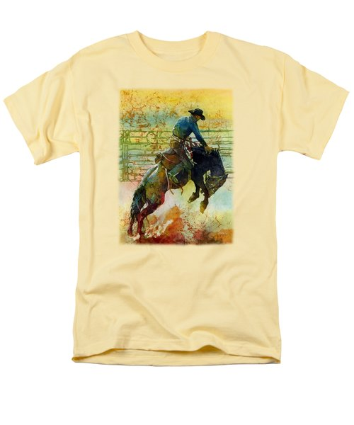 Men's T-Shirt  (Regular Fit) featuring the painting Bucking Rhythm by Hailey E Herrera