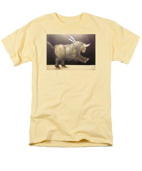 bull painting Botero Men's T-Shirt  (Regular Fit) by Ted Pollard