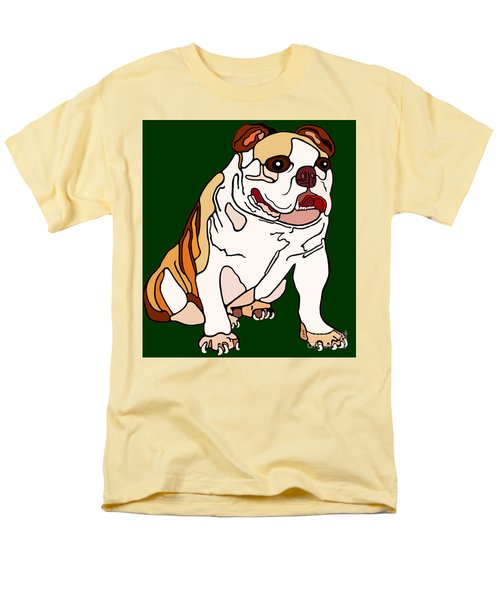Bulldog Men's T-Shirt  (Regular Fit) by Marian Cates
