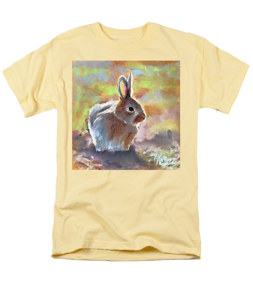 Men's T-Shirt  (Regular Fit) featuring the pastel Bunny by Pattie Wall