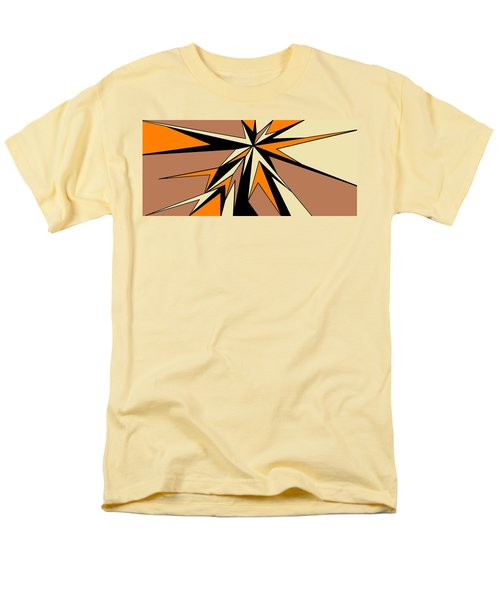 Burst Of Orange 2 Men's T-Shirt  (Regular Fit) by Linda Velasquez