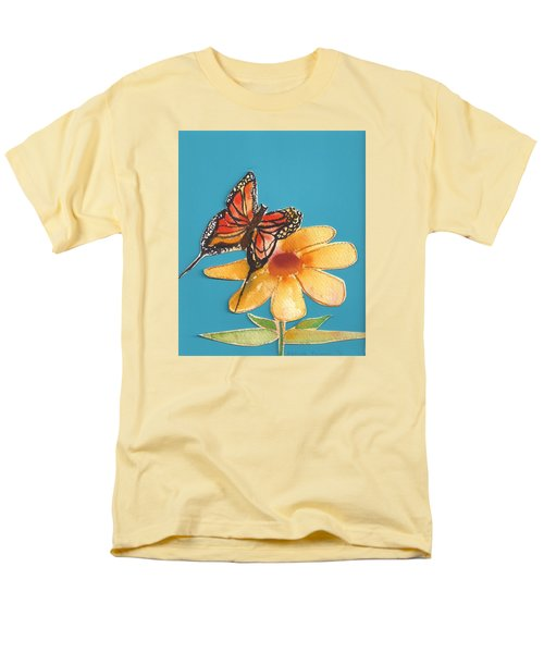 Men's T-Shirt  (Regular Fit) featuring the painting Butterflower by Denise Fulmer