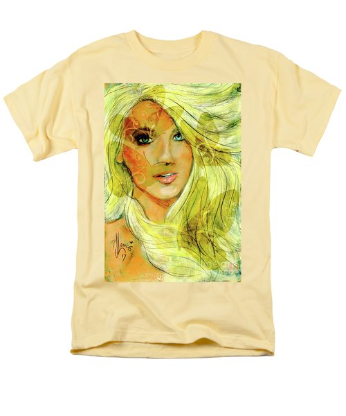 Men's T-Shirt  (Regular Fit) featuring the painting Butterfly Blonde by P J Lewis
