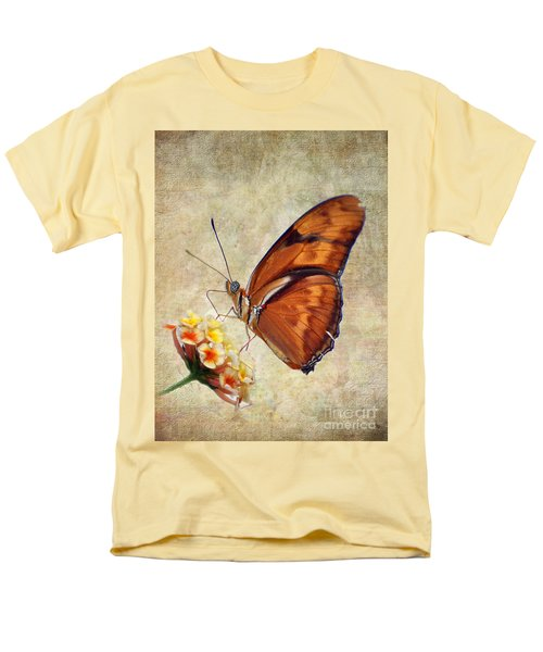 Men's T-Shirt  (Regular Fit) featuring the pyrography Butterfly by Savannah Gibbs