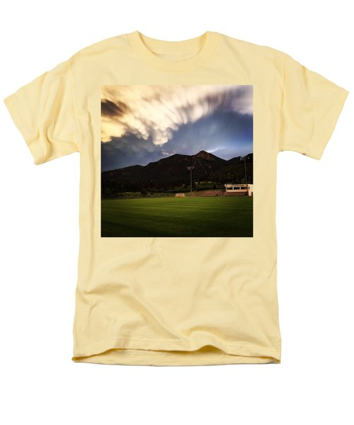 Men's T-Shirt  (Regular Fit) featuring the photograph Cadet Soccer Stadium by Christin Brodie