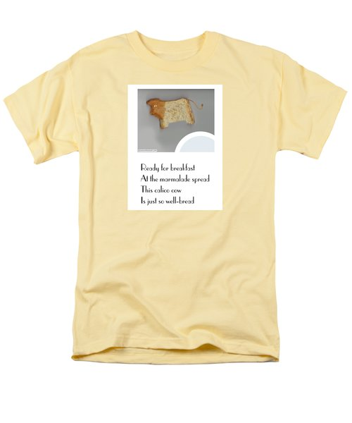 Men's T-Shirt  (Regular Fit) featuring the digital art Calico Cow by Graham Harrop