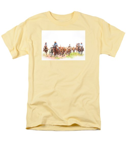 Cattle Drive Men's T-Shirt  (Regular Fit) by David and Carol Kelly