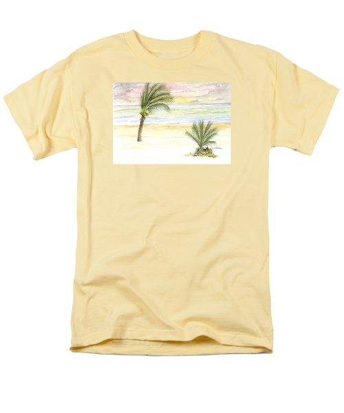 Men's T-Shirt  (Regular Fit) featuring the digital art Cayman Beach by Darren Cannell