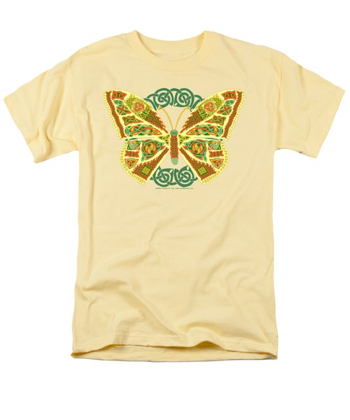 Men's T-Shirt  (Regular Fit) featuring the mixed media Celtic Butterfly by Kristen Fox
