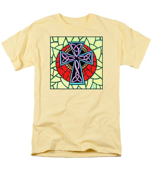 Men's T-Shirt  (Regular Fit) featuring the painting Celtic Cross by Jim Harris