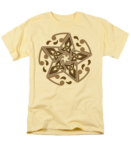 Men's T-Shirt  (Regular Fit) featuring the mixed media Celtic Star by Kristen Fox